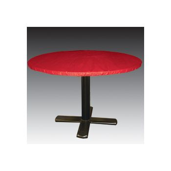 "REAL RED ROUND    60"" TABLE COVER"