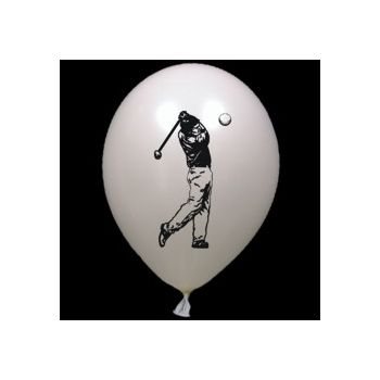 Golfer Latex Balloons - 14 Inch, 25 Pack
