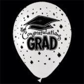 "Congrats Grad Latex 14"" Balloons - 25 Per Unit"