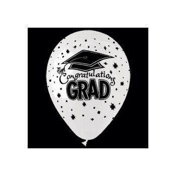 Congrats Grad Latex Balloons - 14 Inch, 25 Pack