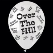 Over The Hill Birthday Balloons - 14 Inch, 25 Pack