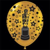 "Gold Award Statue Latex 14"" Balloons - 25 Per Unit"