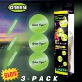 3 Pack Of Green Glow Flyer Golf Balls