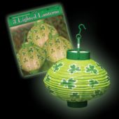 St. Patrick's Day Light Up Lanterns-3 Per Unit