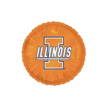 Illinois Fighting Illini Metallic Balloon - 18 Inch