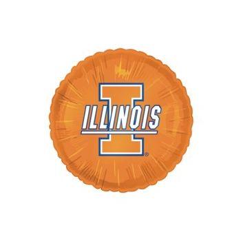 Illinois Fighting Illini Metallic Balloon - 18 Inch