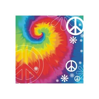 WOODSTOCK TIE DYE   LUNCH NAPKINS