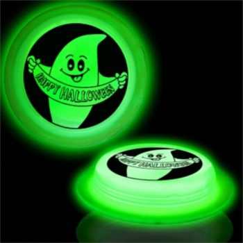 HAPPY HALLOWEEN   GREEN GLOW SHAPE