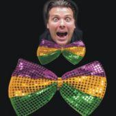 Mardi Gras Sequin Bow Tie