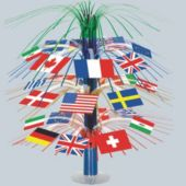 International Flag Cascade Centerpiece-18""