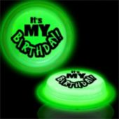 It's My Birthday Green Glow Badge-3""