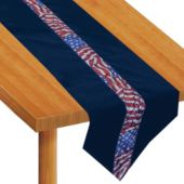 Stars And Stripes Velvet Table Runner