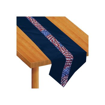 STARS & STRIPES   VELVET TABLE RUNNER