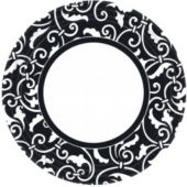 "Black Scroll 9""  Plates - 8 Per Unit"