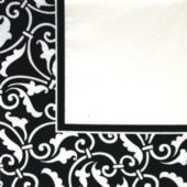 Black Scroll Luncheon Napkins - 16 Per Unit
