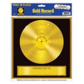Rock And Roll Gold Record Cling