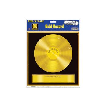 Rock & Roll  Gold Record Cling
