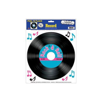 Rock & Roll  Record Cling