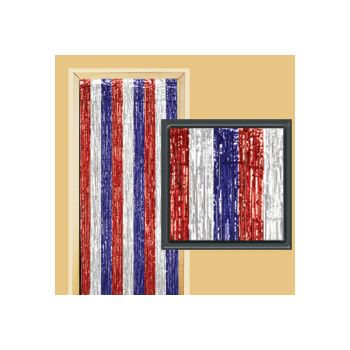 RED, WHITE & BLUE   DOOR CURTAIN