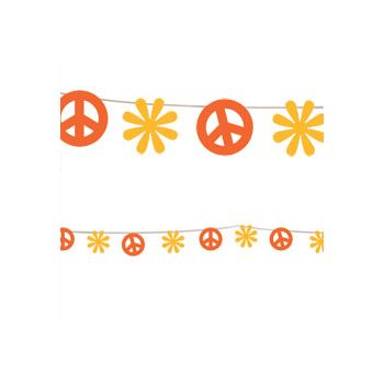 Peace Sign   100' String Garland