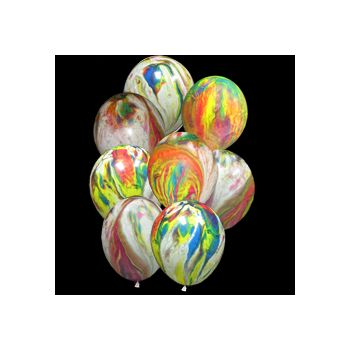 Tie Dye Balloons - 11 Inch, 25 Pack