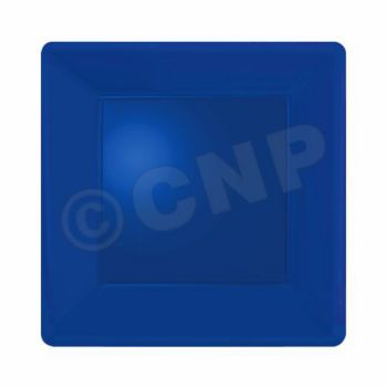 "ROYAL BLUE SOLID  SQUARE 7"" PLATES"