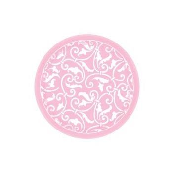 "PINK SCROLL   7"" PLATES"