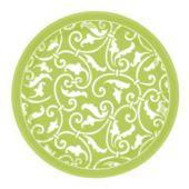 "Lime Green 7"" Plates - 8 Pack"