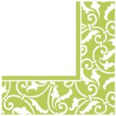 Lime Green Scroll Luncheon Napkins - 16 Pack
