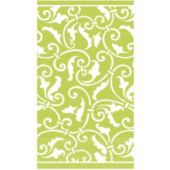 Lime Green Scroll Guest Towels  - 16 Pack