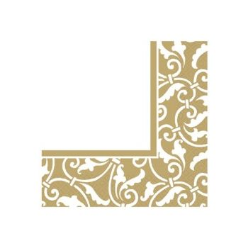 GOLD SCROLL   LUNCHEON NAPKINS