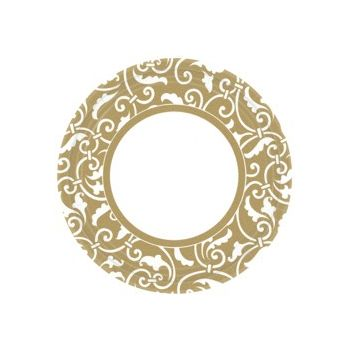 "GOLD SCROLL   9"" PLATES"
