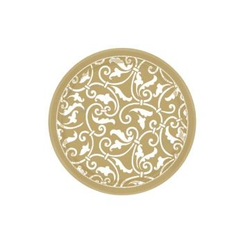 "Gold Scroll 7"" Plates"