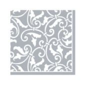 Silver Scroll Beverage Napkins