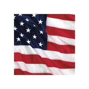 AMERICAN FLAG   LUNCHEON NAPKINS