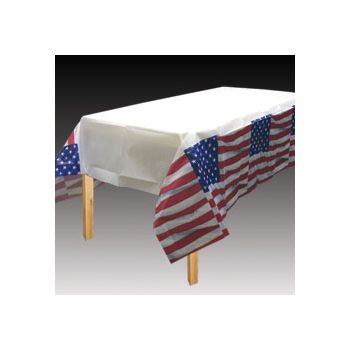 AMERICAN FLAG   PAPER TABLE COVER