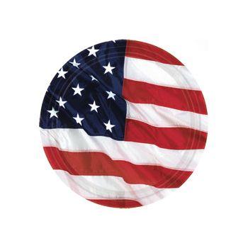"AMERICAN FLAG   7"" PLATES"