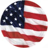 "American Flag 10 1/2"" Plates - 8 Pack"