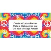 WOODSTOCK TIE DYE - CUSTOM BANNER (Variety of Sizes)