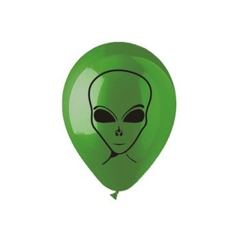 Green Alien Balloons - 14 Inch, 25 Pack