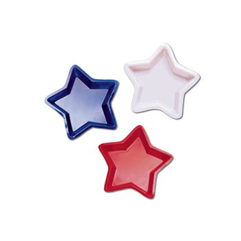 STAR SHAPE PLATES   6 PER PACK