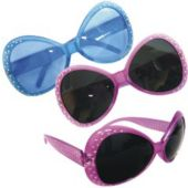 Blue And Pink Studded Sunglasses