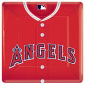"LA Angels 10"" Square Plates - 8 Pack"