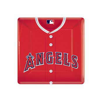 "LA ANGEL'S   10"" SQUARE PLATES"