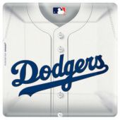 "Los Angeles Dodgers 10"" Square Plates - 18 Pack"