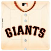 "SF Giants 10"" Square Plates - 18 Per Unit"