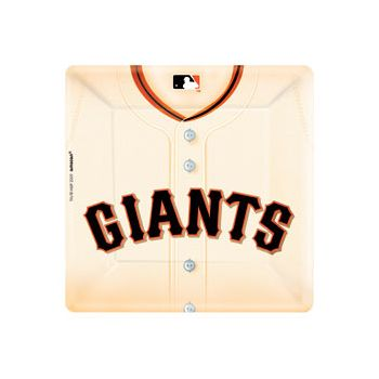 "SF GIANTS   10"" SQUARE PLATES"