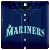 "Seattle Mariner's 10"" Square Plates - 18 Pack"