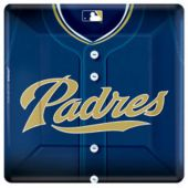 "San Diego Padres 10"" Square Plates - 18 Pack"