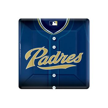 "SAN DIEGO PADRE'S   10"" SQUARE PLATES"